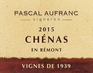 Chénas Vignes de 1939